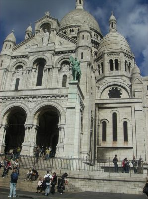 The Basilica of the Sacred Heart in Montmartre Paris
